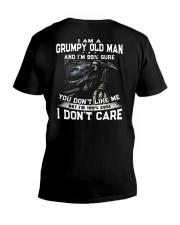 NEW VERSION - OLD MAN DON'T CARE  V-Neck T-Shirt thumbnail