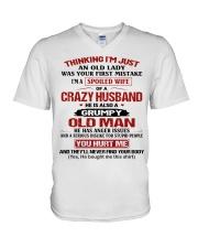AN OLD LADY V-Neck T-Shirt thumbnail