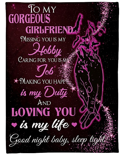 Blanket - To My Gorgeous Girlfriend - DTA