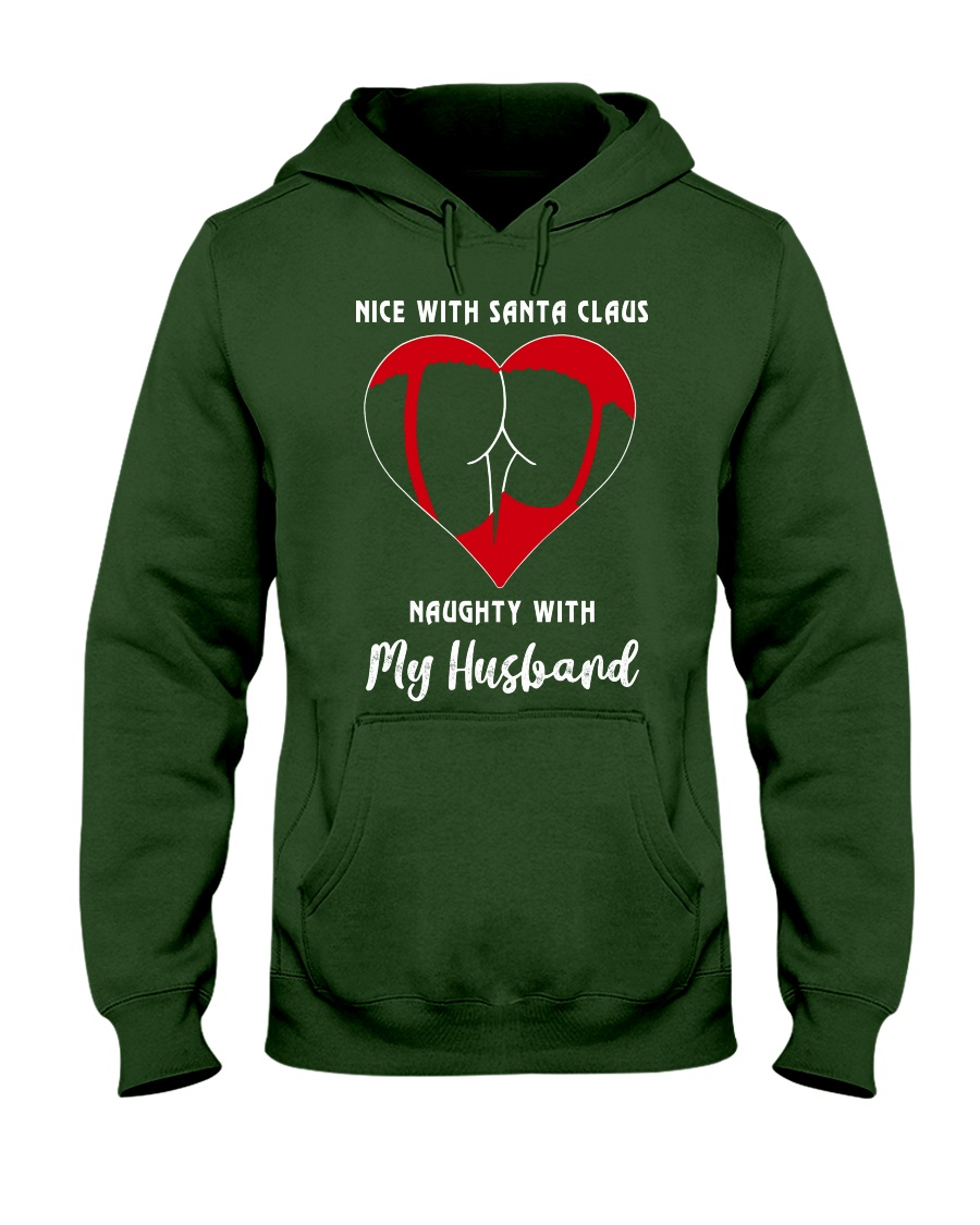 TOM- NICE SANTA NAUGHTY HUSBAND TATOO - BIG SALE Hooded Sweatshirt