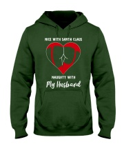TOM- NICE SANTA NAUGHTY HUSBAND TATOO - BIG SALE Hooded Sweatshirt front