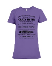 I LOVE MY CRAZY SISTER Premium Fit Ladies Tee tile