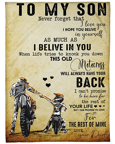 BLANKET - MOTOCROSS - DAD - TO MY SON