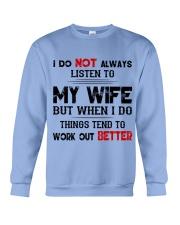 WIFE - LISTEN TO - FULY Crewneck Sweatshirt thumbnail
