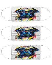 Fabric Mask Pugface version Cloth Face Mask - 3 Pack front