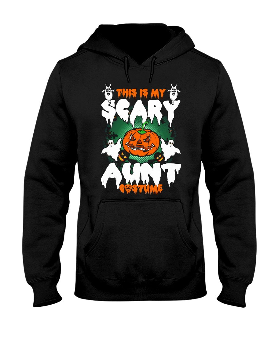 THIS IS MY SCARY COSTUME AUNT Hooded Sweatshirt