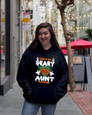 THIS IS MY SCARY COSTUME AUNT Hooded Sweatshirt lifestyle-unisex-hoodie-front-2
