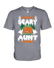 THIS IS MY SCARY COSTUME AUNT V-Neck T-Shirt thumbnail