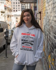 FEBRUARY GIRL Hooded Sweatshirt lifestyle-unisex-hoodie-front-1