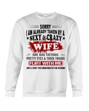 SEXY AND GRAZY WIFE Crewneck Sweatshirt thumbnail