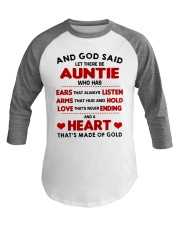 AND GOD SAID LET THERE BE AUNTIE Baseball Tee thumbnail