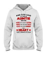 AND GOD SAID LET THERE BE AUNTIE Hooded Sweatshirt front