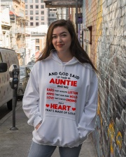 AND GOD SAID LET THERE BE AUNTIE Hooded Sweatshirt lifestyle-unisex-hoodie-front-1