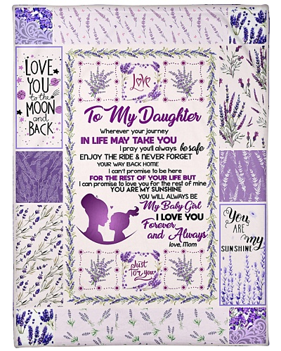 BLANKET - TO MY DAUGHTER - LAVENDER