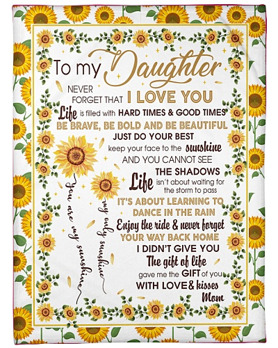 Blanket- To my Daughter -You're my sunshine- HTV