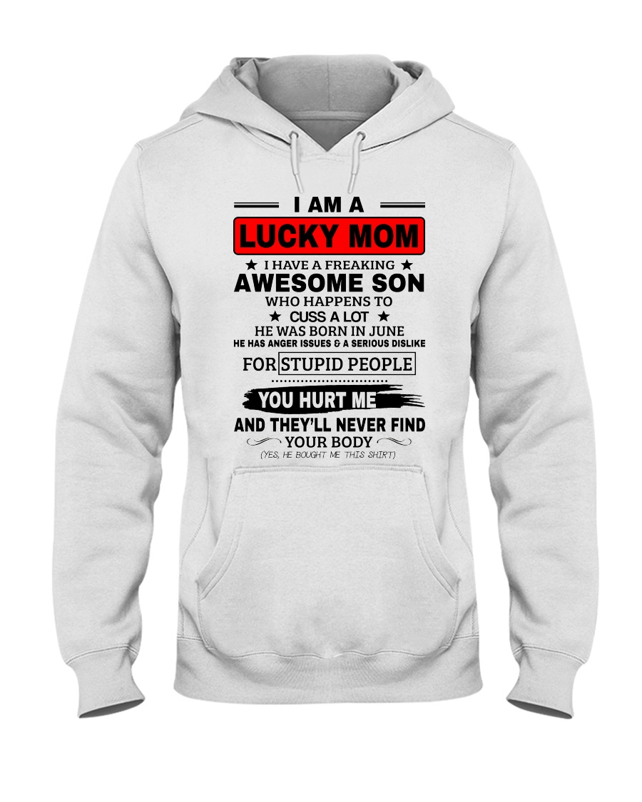 LIMITED EDITION - I AM A LUCKY MOM Hooded Sweatshirt