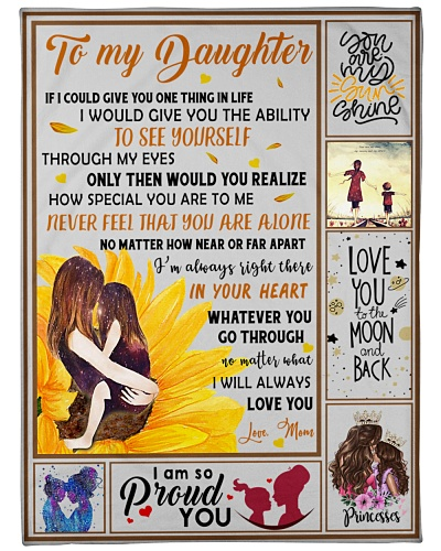 Blanket-To my Daughter- I'll always love you-HTV