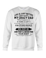 MY CRAZY DAD DTS Crewneck Sweatshirt thumbnail