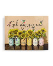 AUTISM - GOD SAYS YOU ARE - NSS 14x11 Gallery Wrapped Canvas Prints aos-canvas-pgw-14x11-ghosted-front-02
