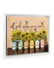 AUTISM - GOD SAYS YOU ARE - NSS Floating Framed Canvas Prints White tile