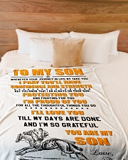 "BLANKET-TO MY SON-01 Large Fleece Blanket - 60"" x 80"" aos-coral-fleece-blanket-60x80-lifestyle-front-02"