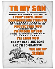 """BLANKET-TO MY SON-01 Large Fleece Blanket - 60"""" x 80"""" front"""