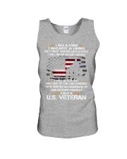 I AM A US VETERAN Unisex Tank thumbnail