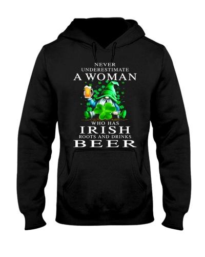IRISH WOMAN DRINKS BEERS