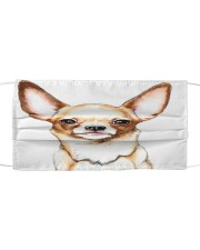 Face Veil Chihuahua Cloth face mask front