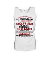 SPOILED DAUGHTER OF A CRAZY DAD Unisex Tank thumbnail