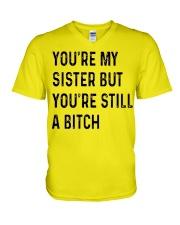 VERSION NEW - SMART SISTER V-Neck T-Shirt thumbnail