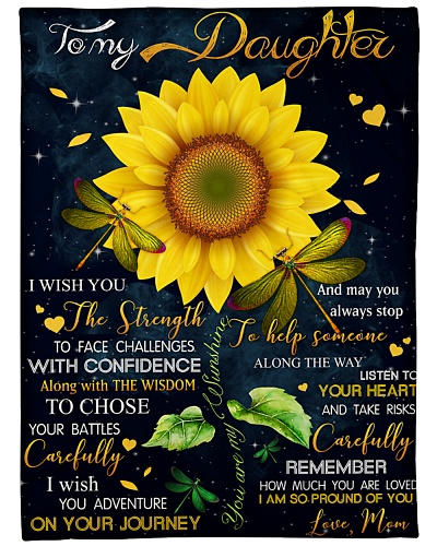 Blanket - To My Daughter - Sunflower - DTA