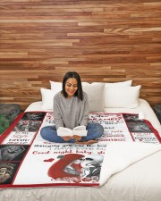 """I'M MARRYING A PERFECT WIFE - BLANKET Large Sherpa Fleece Blanket - 60"""" x 80"""" aos-sherpa-fleece-blanket-60x80-lifestyle-front-08"""