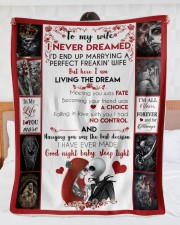 """I'M MARRYING A PERFECT WIFE - BLANKET Large Sherpa Fleece Blanket - 60"""" x 80"""" aos-sherpa-fleece-blanket-60x80-lifestyle-front-23"""
