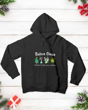 TOM- SATIVA CLAUS ALWAYS KNOWS YOUR WISHES Hooded Sweatshirt lifestyle-holiday-hoodie-front-3
