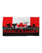 Remembrance Day - Freedom Cloth face mask front
