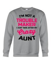 I'M NOT A TROUBLE MAKER Crewneck Sweatshirt thumbnail