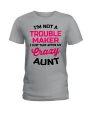 I'M NOT A TROUBLE MAKER Ladies T-Shirt thumbnail