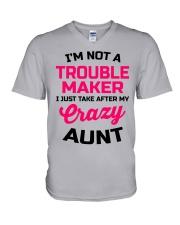 I'M NOT A TROUBLE MAKER V-Neck T-Shirt thumbnail