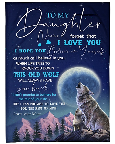 BLANKET - WOLF - MOM - TO MY DAUGHTER