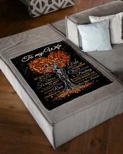 "Blanket - To my Wife Small Fleece Blanket - 30"" x 40"" aos-coral-fleece-blanket-30x40-lifestyle-front-03"