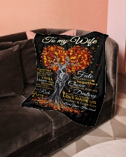 "Blanket - To my Wife Small Fleece Blanket - 30"" x 40"" aos-coral-fleece-blanket-30x40-lifestyle-front-05"
