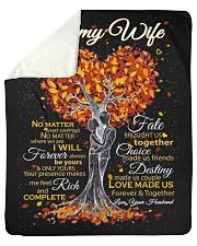 "Blanket - To my Wife Sherpa Fleece Blanket - 50"" x 60"" thumbnail"