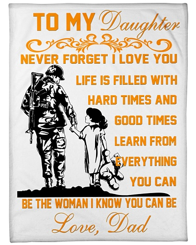 BLANKET- TO MY DAUGHTER- VETERAN