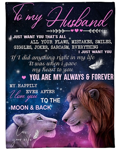 Blanket - To My Husband - Lion - DTA