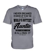 HOTTEST AUNTIE V-Neck T-Shirt thumbnail