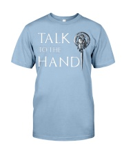 TALK TO THE HAND Premium Fit Mens Tee front