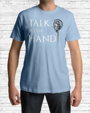 TALK TO THE HAND Premium Fit Mens Tee lifestyle-mens-crewneck-front-1