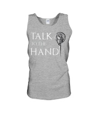 TALK TO THE HAND Unisex Tank tile