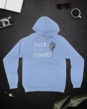 TALK TO THE HAND Hooded Sweatshirt lifestyle-unisex-hoodie-front-9